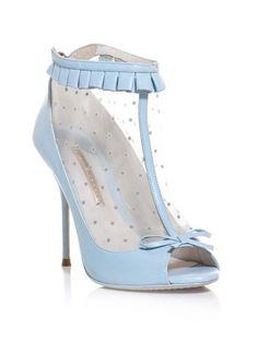 Sophia Webster Shoes | Sophia Webster Felice Polkadot Opentoe Shoe Boots in Blue - Lyst
