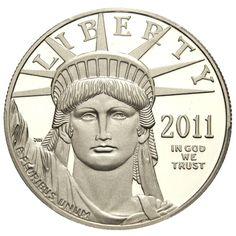 pcgs 100 best modern us coins | Modern U.S. Coins > $100 Statue Liberty - Platinum 2011-W $100 PCGS ...