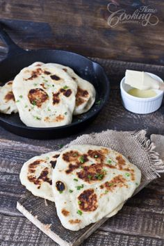 Naan bread - made on iron cast skillet - simply delicious