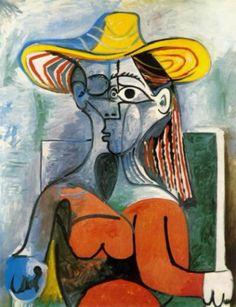 Pablo Picasso, Mujer con sombrero, 1962. Óleo sobre lienzo, 146.3 x 114.3 cm. Pola Museum of Art, Hakone, Japón