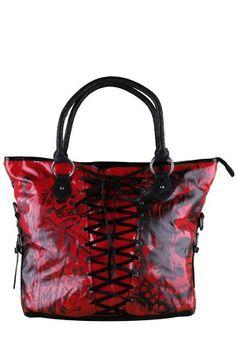 Iron Fist Women s American Nightmare Hand Bag - Red Skull Purse, New  Handbags, Handbags a958d4828c