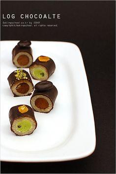 로그 초콜릿  choco mazipan roll