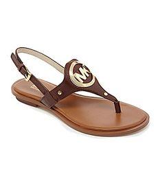 MICHAEL Michael Kors Aubrey Charm Flat Sandals