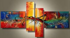 Lisbon -Abstract-handmade painting-set of Tableau Design, Lisbon, Abstract Art, Handmade, Painting, Home Decor, Art, Red Orange Color, Red Paint