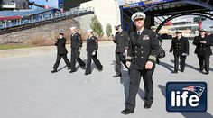 """New England Patriots.  Navy Captain, lifelong Patriots fan visits Gillette for first time By Angelique Fiske Commanding Officer Mike Gunther, a """"die-hard"""" fan, visited Gillette for the first time while the USS McFaul was docked in Boston. Read"""