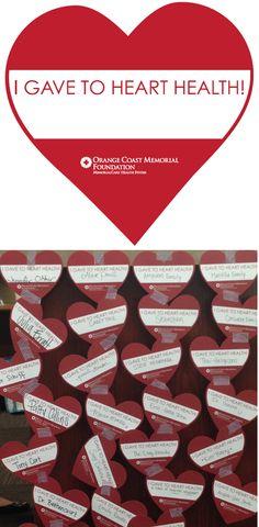 Heart Health Pin Up Campaign #fundraising #nonprofit #hospital