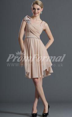 A-line Straps Sleeveless Blushing Pink Short Prom Dresses