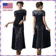 102202BSV Ballroom Smooth Tango Country Show Flamenco Dance Dress Top Skirt Set  in Clothing, Shoes & Accessories, Dancewear, Adult Dancewear, Ballroom   eBay