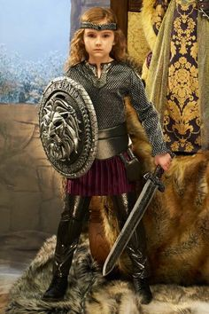"""""""Shop Chasing Fireflies for our Joan of Arc Costume for Girls. Browse our online catalog for the best in unique children's costumes, clothing and more. Viking Halloween Costume, Vikings Halloween, Halloween Costumes For Girls, Girl Costumes, Saint Joan Of Arc, St Joan, Knight Costume, Warrior Costume, Joan Of Arc Costume"""