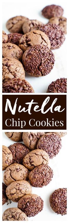 These Nutella Chip Cookies are simple, sweet, and loaded with mini chocolate chips. Nutella is blended right into the dough for a delicious flavor the whole family will love! No chill time and the first batch is read in less than 25 minutes!