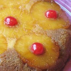 Upside down pineapple cake recipe - definitely a keeper!