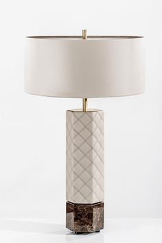 Discover Cosmopolitan upholstered table lamp by Colunex. Tall Lamps, Large Lamps, Bedside Table Lamps, Bedroom Lamps, Best Desk Lamp, Lamp Inspiration, Contemporary Table Lamps, Modern Lamps, Bright Homes