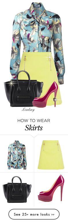 """Versace Stretch-cotton mini skirt"" by lindsayd78 on Polyvore"