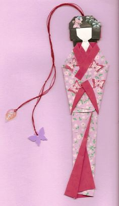 A beautiful Geisha origami bookmark is so darned cool...