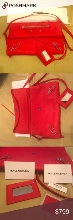 Balenciaga envelope clutch Beautiful red Balenciaga clutch Balenciaga Bags Clutches & Wristlets