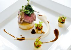 artistic main course | enquiries@houseforanartlover.co.uk Entree Recipes, Dinner Recipes, Dinner Ideas, House For An Art Lover, Breakfast Casserole, Fine Dining, Food Dishes, Entrees, Appetizers