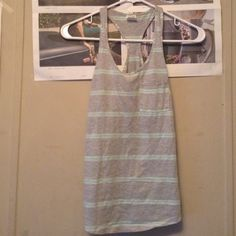 Striped tank top from Zine. Striped baby blue and grey tank top. Xsmall. PacSun Tops Tank Tops