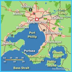 cool Map of Melbourne