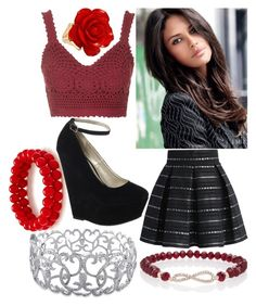 """Tarni"" by elli-jane-xox ❤ liked on Polyvore featuring Chicwish, Topshop, Jane Norman, Express and Ice"