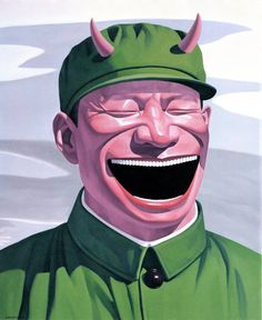 Yue Minjun is a contemporary Chinese artist based in Beijing, China. He is best known for oil paintings depicting himself in various settings, frozen in laughter. He has also reproduced this signature image in sculpture, watercolour and prints.