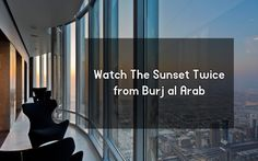 Information and paragraph about the Burj al Khalifa Facts, the world's tallest building in Dubai where you can see the sunset twice in the same evening.