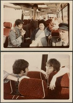 Paul McCartney and John Lennon Scene from magical mystery tour