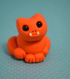 Pumpkin the Curious Goblin - Cute Polymer Clay Monster Figures