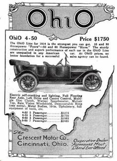 1912 Crescent Automobile Advertisement