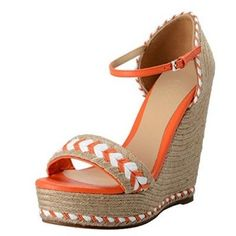 Gucci Women's High Heel Wedges Ankle Strap Sandals Shoes US 9 IT 39;