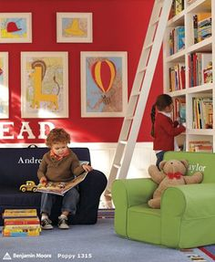 We would have a wonderful community library and reading space for the kids as part of our barn conversion learning space.  We could pool all of the books that are taking up enough space in our individual houses to fill a library :)