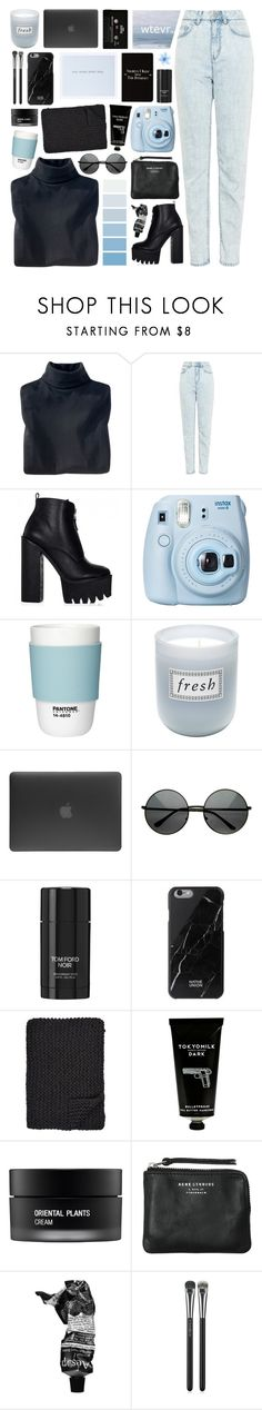 """""""smells like teen spirit"""" by teeenagers ❤ liked on Polyvore featuring Woolrich, WÃ¥ven, Fujifilm, Pantone, Fresh, Incase, Tom Ford, Native Union, Alicia Adams and TokyoMilk"""