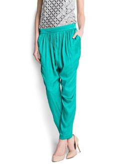 Mango Women's Baggy Satin Trousers, Green, M MANGO,http://www.amazon.com/dp/B00C3CR1VO/ref=cm_sw_r_pi_dp_Dkhysb0X7R5GWMKZ