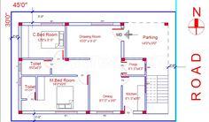 Resultado de imagen para 2 BHK floor plans of 2bhk House Plan, Model House Plan, Duplex House Plans, Best House Plans, Bedroom House Plans, Dream House Plans, Small House Plans, House Floor Plans, 40x60 House Plans
