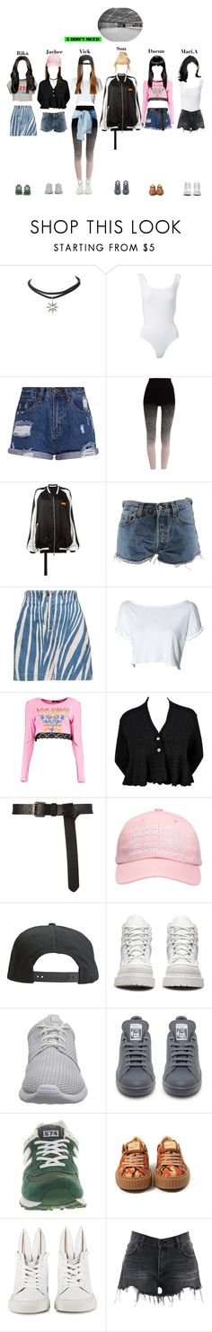 """""I Don't Need"" Dance Practice"" by starz-official on Polyvore featuring Lamoda, Alaïa, Pepper & Mayne, Unravel, Levi's, Roberto Cavalli, Boohoo, October's Very Own, Tavik and Dr. Martens"