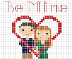 Create handmade love with this free cross stitch Valentines Day pattern from Stitch People! #valentinesday #valentinespresent #freepattern #xstitch #stitchpeople