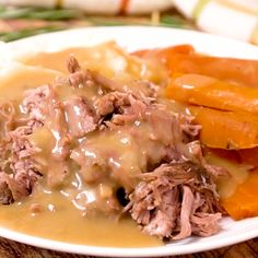 This Crock Pot Pork Roast is an easy dump and go dinner idea that's perfect for busy weeknights! There is plenty of delicious gravy that pairs perfectly with mashed potatoes! Pork Roast With Gravy, Slow Cooker Pork Roast, Pork Roast Recipes, Pork Tenderloin Recipes, Pot Roast, Pork Roast Crock Pot, Crockpot Pork Recipes, Roast Pork Dinner, Pork Gravy Recipe