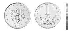 Česká mince 1 Kč – ročník ražby 1997 Coins, Personalized Items, Rooms