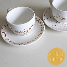 DIY Fête des mères - De la peinture sur tasse pour la fête des mères
