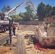 Bored holes, concrete piers and  Concrete pumping. #SierraProperty #AplinTerraces #Windsor #4030