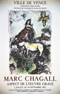 Marc Chagall Ville de Vence 1982  CHAGALL MARC  Imprimerie Moderne du Lion…