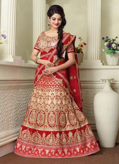 Cute Net Resham Work A Line Lehenga Choli