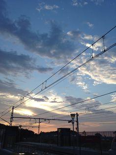 Estacion de tren de Arenys / Amanecer