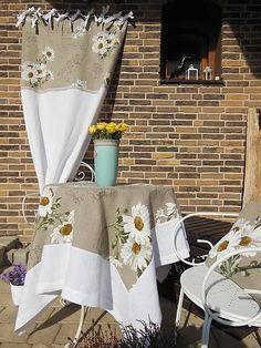Linen curtains and tablecloth by shabby.romantic / Ľanové závesy Marguerite