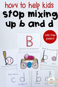 8 ways to help kids stop making b and d letter reversals! A great resource for a kindergarten literacy center. resources 8 Ways to help kids stop making b and d letter reversals - The Measured Mom Professor, 2 Kind, Kindergarten Literacy, Learn To Read Kindergarten, Kindergarten Posters, Kindergarten Special Education, Montessori Elementary, Elementary Teaching, Literacy Centers