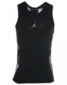 15a9c9510c3 Nike Jordan Stay Cool Compression VII Mens 683134-010 Black Tank Top Size L