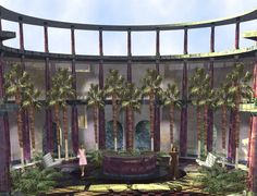 Spa Entrance, inspired by the Roman baths of Italy