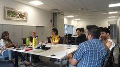 Tercer encuentro en el mes de octubre de 2014 en la sede de OSDE. Con Gaby Morcos, Pablo Seman, Andrea Fernandez, Dimas Melfi, Victor Alejandro Aybar y Jose Luis Astrada. Ph: German Bormann.
