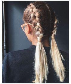 Cute Hairstyles For Medium Hair, Braided Ponytail Hairstyles, Pretty Hairstyles, Girl Hairstyles, Black Hairstyle, Hairstyles For Short Hair Easy, Bandana Hairstyles, Hair Updo, Short Hair Styles Easy