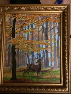 Deer in fall By Teresa Beard- Lowell