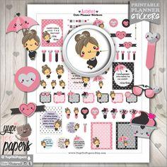 Audrey Stickers, Audrey Hepburn Stickers, Planner Stickers, Printable Planner Stickers, Diva Stickers, Kawaii Stickers, Fashion Stickers